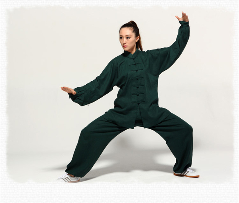 High Quality Breathable Mens And Womens Martial Arts Uniform Linen Kung Fu Tai Chi Suits Exercise Wear master recommend movement triangle frame wing chun wooden dummy donnie ye used standard kung fu wooden dummy martial arts