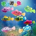 1 pcs Coloful Engraçadas Natação Robofish Eletrônico Alimentado Por Bateria Ativado Robo Brinquedo peixe de Estimação Robótico para Decoração Do Tanque de Peixes de Pesca
