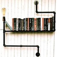 Винтаж промышленные лофт личность книжная полка водопровод утюг эдисон стены бра отель бар ресторан домашнего декора освещение
