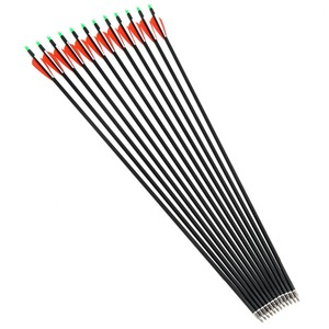 Image 4 - Carbon Arrow 28/30/32 Inches Length Spine 500 with Replaceable Arrowhead for Compound/Recurve Bow Archery Hunting