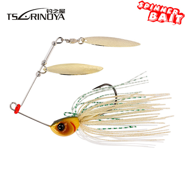 7g/10g Spinner Bait with Brass Fishing Spoon