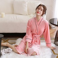 Flannel Robe Silk Women Dressing Gown Long Sleeve Women Bathrobe Velvet Kimono Lovers Home Femme Sleepwear