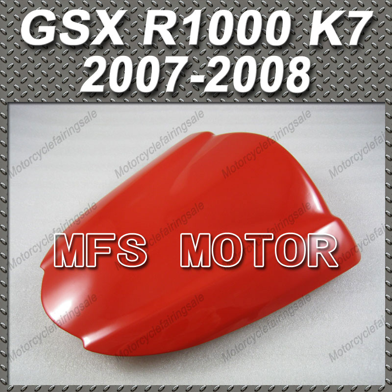 For GSX R1000 K7 Motorcycle Rear Pillion All Red Injection ABS Seat Cowl Cover For Suzuki GSX R1000 K7 2007 2008