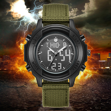 цена на 2019 New Quartz Men Watches Luxury Brand Watch Canvas Fabric Strap Army Military Digital Watch for Men Male Wristwatch