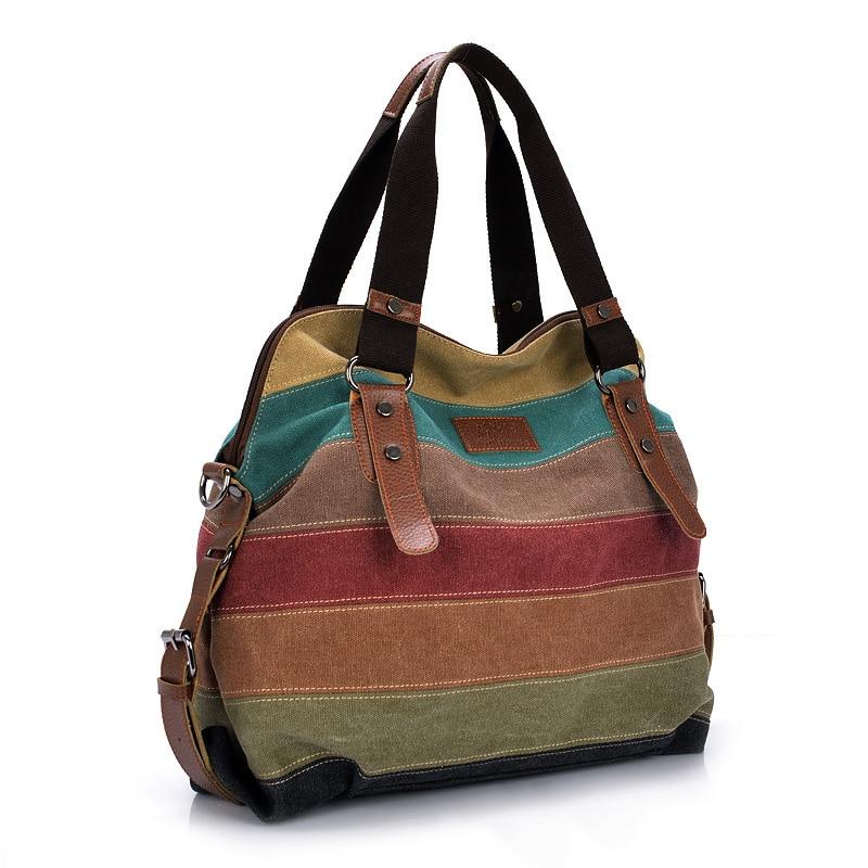 Shoulder Bag Satchel Crossbody Tote Handbag Purse Messenger Canvas