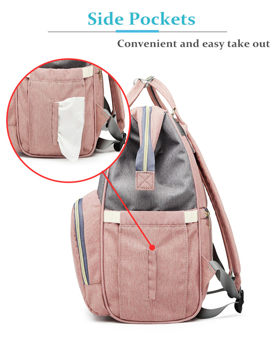 HTB1.ryIXh2rK1RkSnhJq6ykdpXaz Nappy Backpack Bag Mummy Large Capacity Bag Mom Baby Multi-function Waterproof Outdoor Travel Diaper Bags For Baby Care