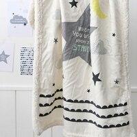 Billige Polyester-decke Schöne Sterne Gedruckt Bequemen Fleece-decke für Kinder auf Sofa/bett/stuhl Moderne und Mode