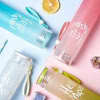Fashion Multi Color Popular Glass Water Bottles Water Bottle Water Drinking Bottle Readily With Lid My Bottle
