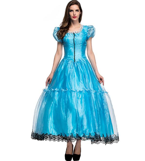 Alice In Wonderland costume for women adult alice cosplay costume blue fancy dress fantasy halloween costumes for women
