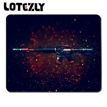 DIY CS GO Rifle Wallpaper Pattern Notebook Control Speed Mouse Pad Anti-slip Gaming Mouse Mat Game Player Desktop Mouse Mat