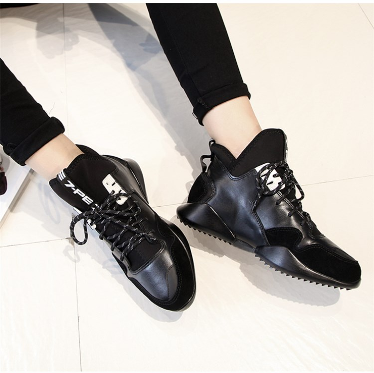 Sneakers Femme En Green Épais Automne Stylesowner Taille Bottom Dentelle Chaussures Hiver white 2018 Black up Voyage Fond Vache Caché army Augmenter Cuir Ww88xqzHZB