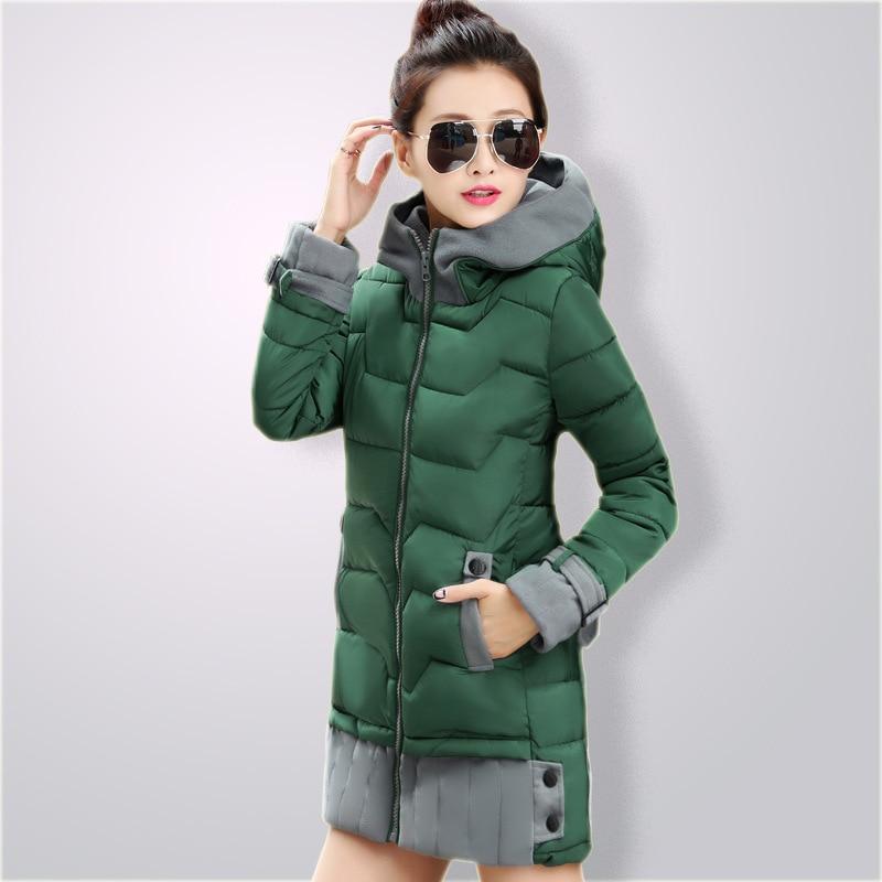 ФОТО Winter women jacket 2016 new fashion women's winter coat outerwear plus size thickening medium-long down cotton-padded jacket