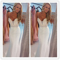 Sexy largos vestidos de fiesta blanco 2017 correas espaguetis lentejuelas mermaid prom dress vestidos de formatura con alta quaity para ladys
