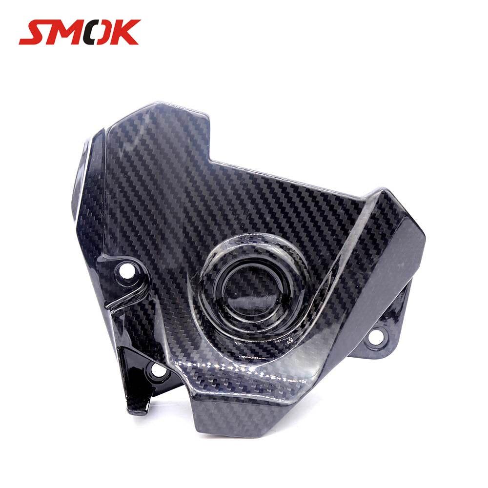 купить SMOK Motorcycle Carbon Fiber Engine Sprocket Chain Clutch Case Cover For Yamaha MT09 MT-09 MT 09 FZ09 Tracer FJ09 2014-2016 по цене 5939.21 рублей