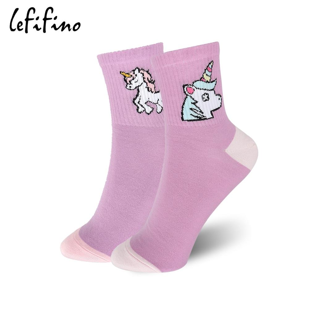 LeFifino Korean Women Cartoon Cute 3D Animal Cotton   Socks   Summer Girls Candy Color Lovely Novel Unicorn   Socks   for Female Le61118