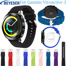 Sport Watch Band for Samsung Gear S2 Watch Strap Band Silicone Watchband for Garmin Vivoactive 3/ 645 Watch Replacement Bracelet superior soft silicone strap replacement watch band lugs adapters for garmin approach s2 s4 smartwatch nov 30