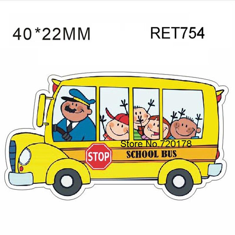 40x22mm retour l 39 cole r sines planaire autobus scolaire - Autobus scolaire dessin ...