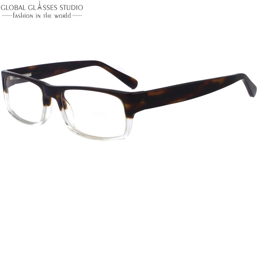 high quality classic men demi light brown and crystal frame fashion eyeglasses frame a088china
