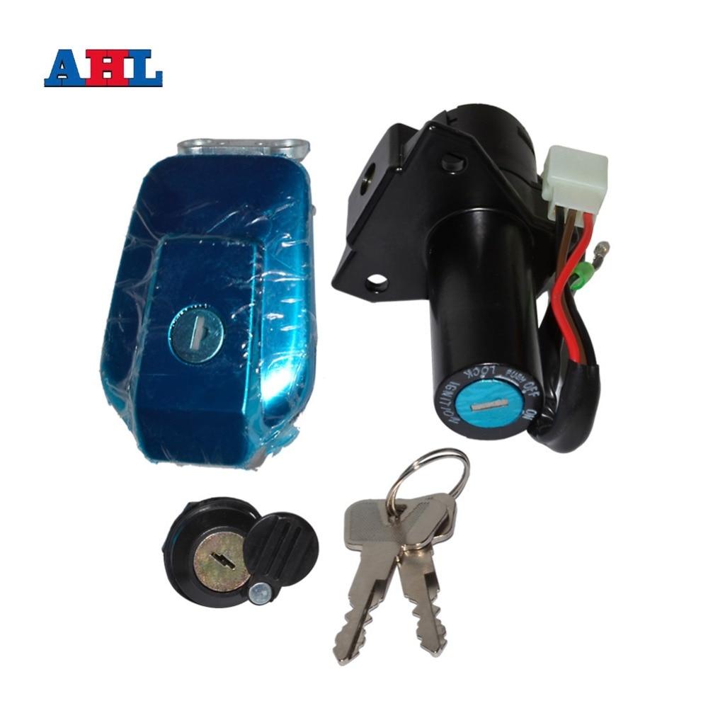 Motorcycle Ignition Switch Lock Kit Fuel Gas Tank Cap Include Key For YAMAHA YBR125 YBR 125