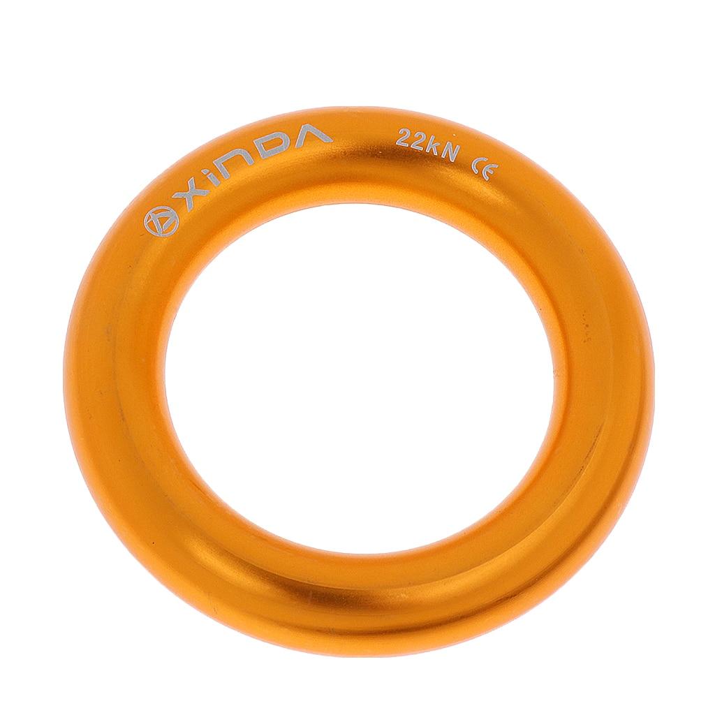5pcs 15KN Aluminum Rappel O Ring Bail-Outs Descender Climbing Connector Tool