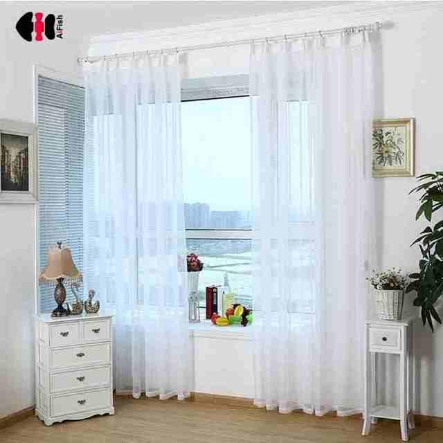 Puro Bianco Trasparente Solido Puro Tulle Nuova Decorazione Della Casa di Alta F