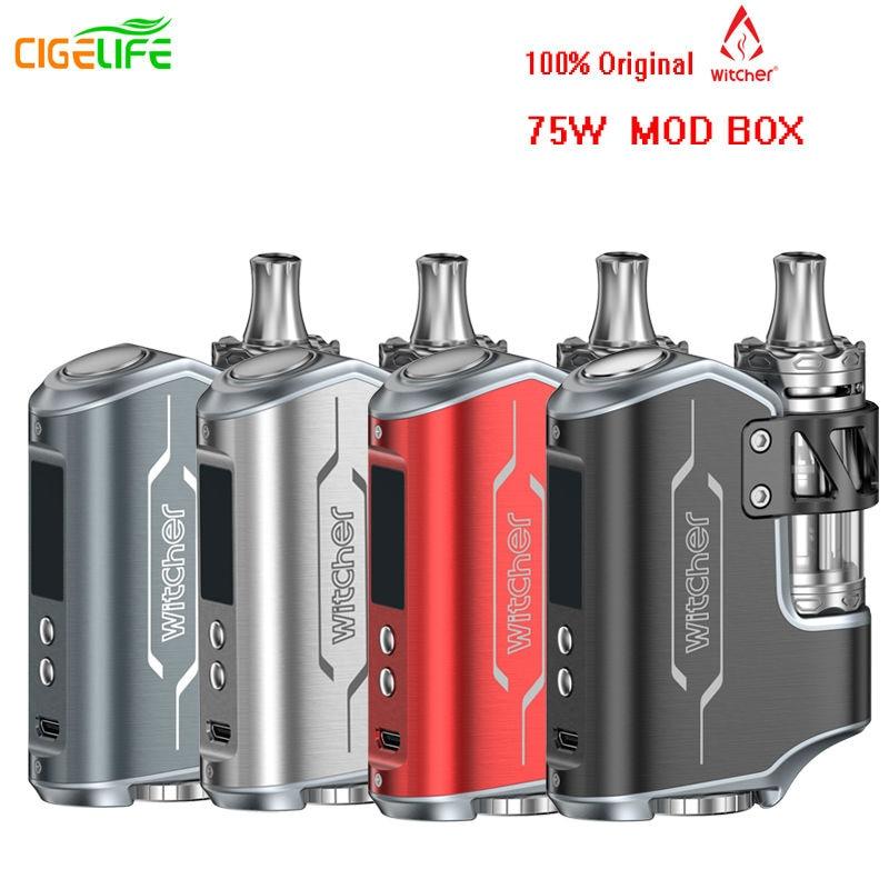 100% Original Witcher Electronic Cigarette Kit ROFVAPE 75W e cigarette TC BOX MOD Vape 18650 Battery e-cigarettes Vaporizer