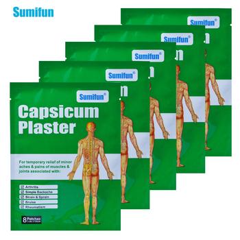 40 sztuk chiński Plaster medyczny Capsicum tynk napięcie mięśni i skręcenie ból pleców wspólne Pacth ciała środek przeciwbólowy opieki zdrowotnej D0668 tanie i dobre opinie Sumifun Ciało Massage Relaxation 7mm*10mm 40Pieces =5Bags Body Pain Relief