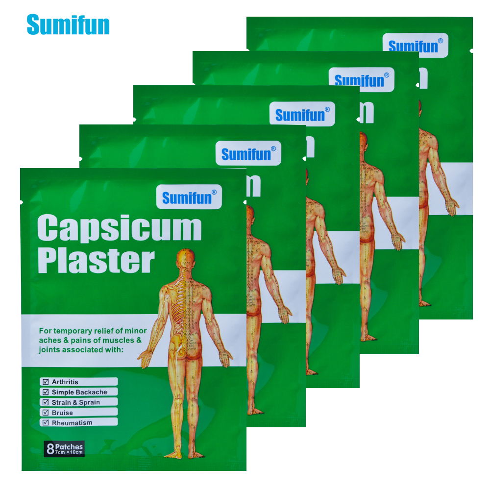 40Pcs Chinese Medical Plaster Capsicum Plaster Muscle Strain & Sprain Back Pain Joint Pacth Body Pain Killer Health Care D0668-in Patches from ...