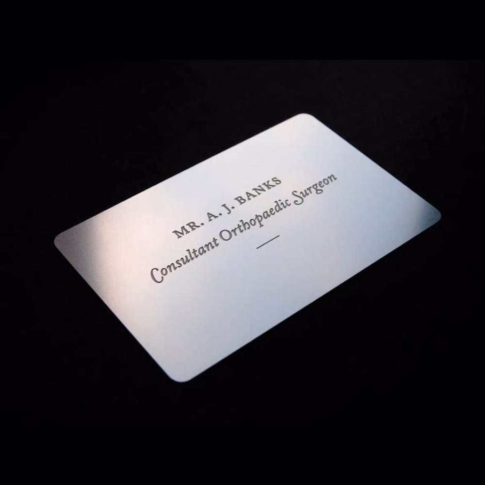 Blank Business-Card-Mirror-Finish Stainless-Steel/metal With Price 2pcs/Lot
