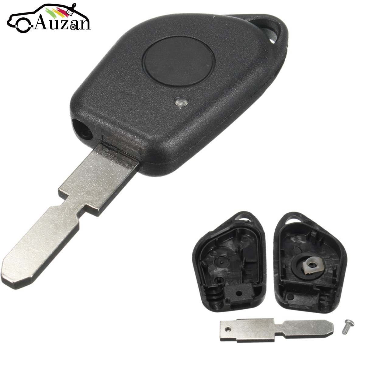 1 Button Remote Key Fob Case Shell with Blank Blade Fits For PEUGEOT 406 406
