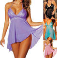 2016 Sexy Women Plus Size Nightwear Sleepwear Babydoll Chemise Dress Pajamas M XL XXL Wholesale