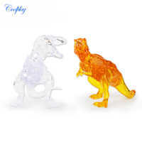 COOLPLAY 3D Crystal Puzzle Dinosaur Pattern DIY Crystal Blocks Puzzle Model Educational Toys For Children Animal