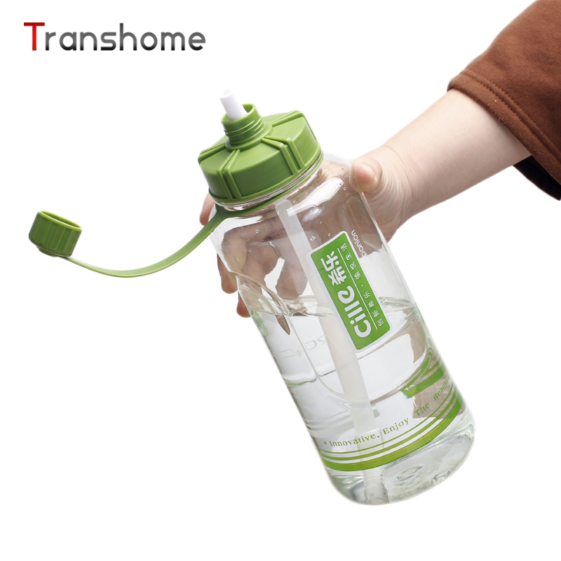 Hot Large Sports Water Bottle 2000ML 1500ML Food Grade Plastic Straw Bottles Hiking Camping Space Cup