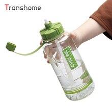 Heißer Große Sport Wasserflasche 2000 ML/1500 ML Lebensmittelqualität Kunststoff Stroh Flaschen Wandern Camping Raum Tasse Transhome
