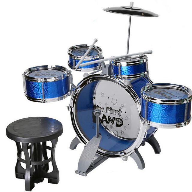 Best Children Toys 10 pcs  kits Drum Set Boys Girls Play Music     Best Children Toys 10 pcs  kits Drum Set Boys Girls Play Music Develop  Intelligence toys