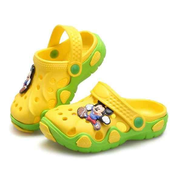 2018 Zomer Kids EVA Klomp sandalen Jongens Meisjes Slippers Comfortabele Leuke Cartoon Slippers Outdoor Kids Sandalen Jongens Strand Schoenen