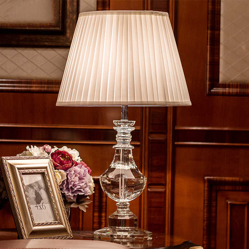 Luxury crystal table lamp bedside lamps for bedroom Living Room Decoration Night Light Bedroom lights Lamparas De Mesa
