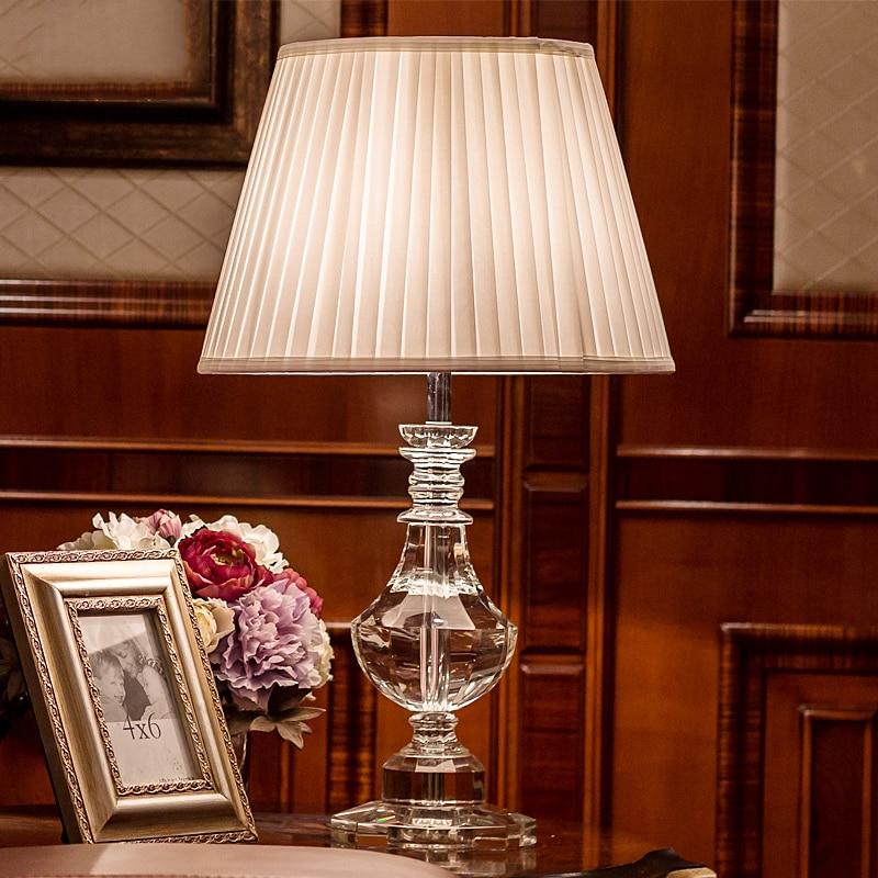 US $107.1 |Cristallo di lusso lampada da comodino lampada da tavolo lampade  per camera da letto Soggiorno Decorazione Della Stanza di Notte Camera Da  ...