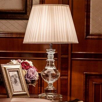 Luxury crystal table lamp bedside lamps for bedroom Living Room Decoration Night Light Bedroom lights Lamparas De Mesa