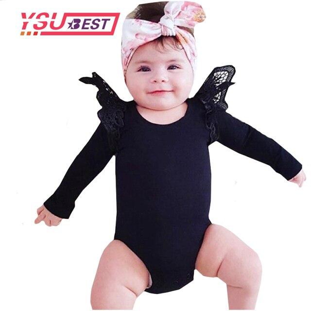 e3631125c7140 2019 Body bébé nouvelle dentelle noir rose blanc corps bébé fille Body à manches  longues combinaison