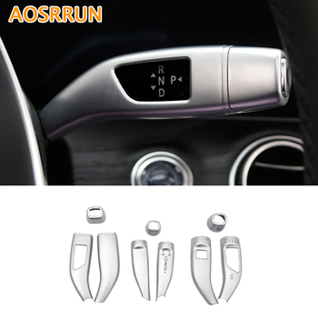 AOSRRUN ABS Electronic Gear Turn signal control Cover Car Accessories For Mercedes Benz GLC300 GLC250 GLC220D GLC250D X253