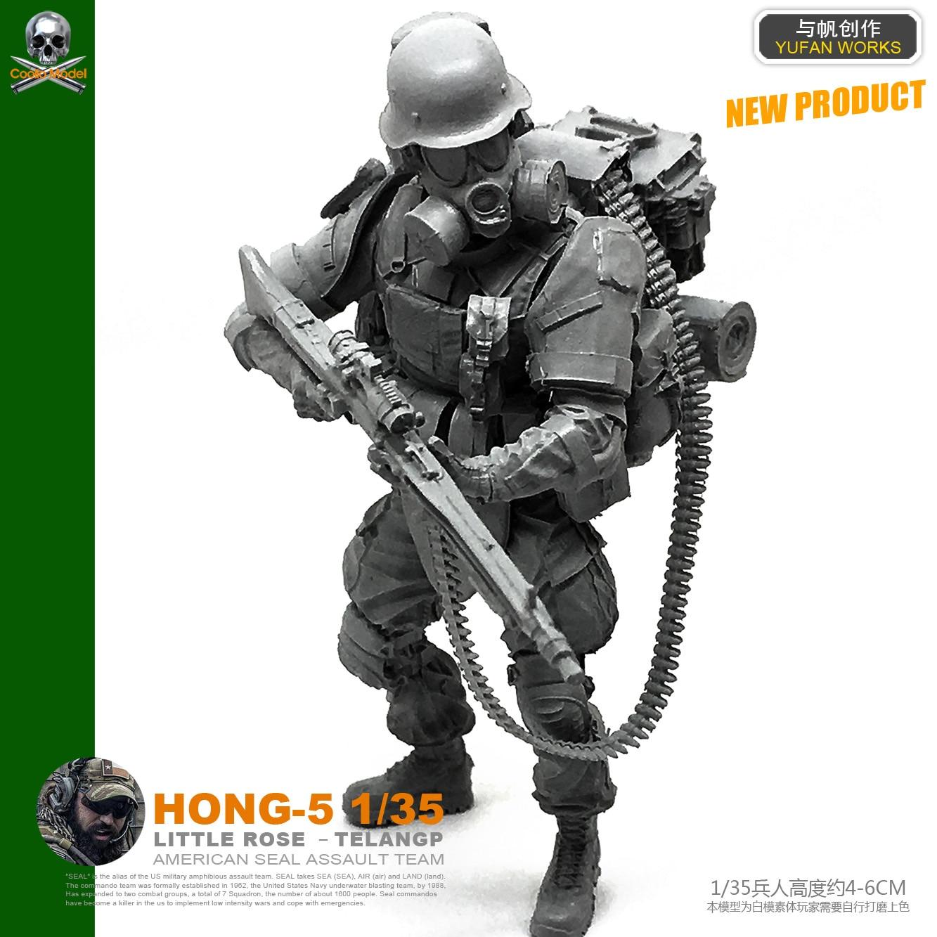 Yufan Model 1/35 Figure Modern Armed Scavenger Resin Soldier Model Kits Hong-05