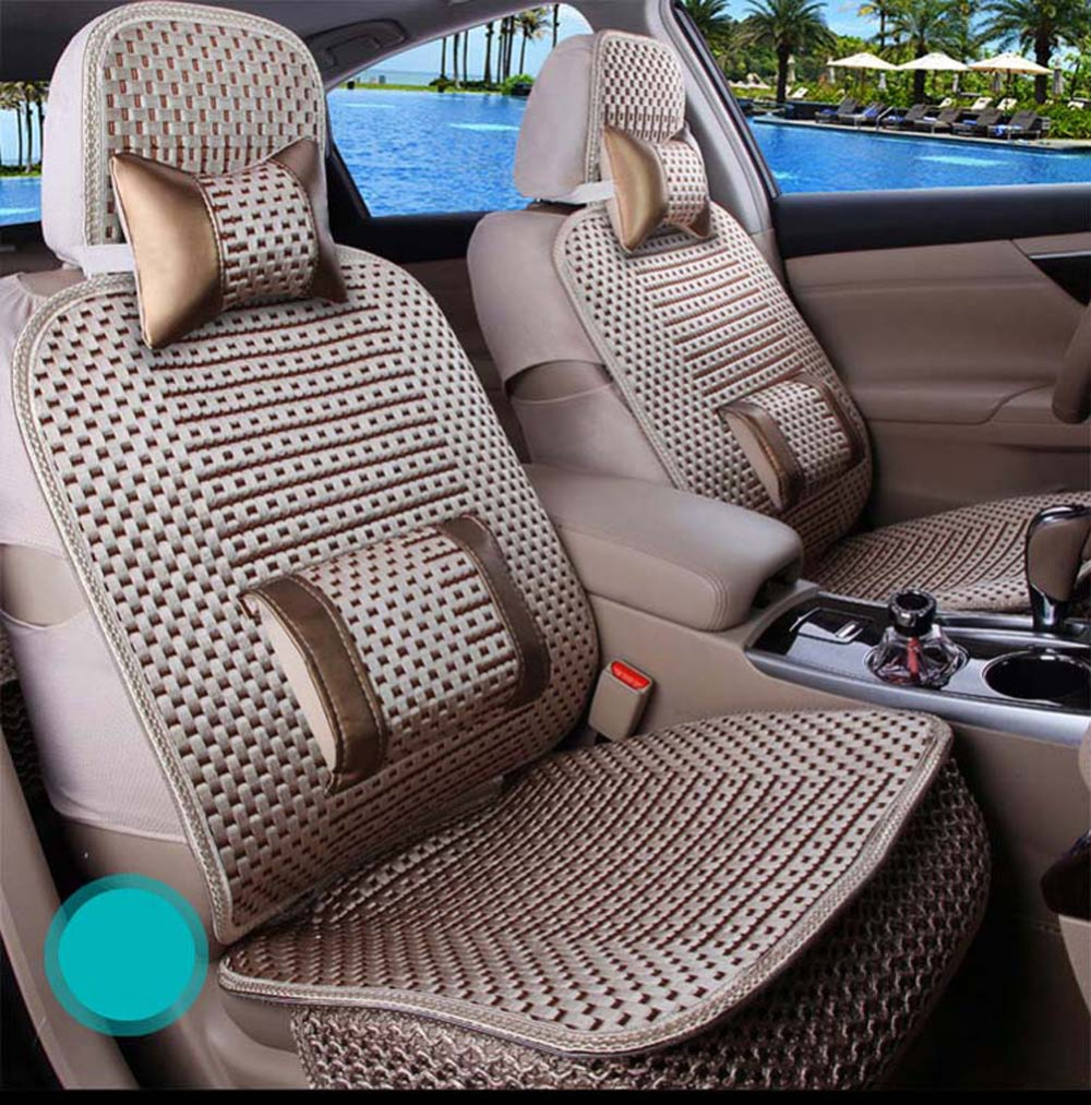 New classic for In the summer Ice silk universal car Seat Cover Whole Surrounded Car Seat Interior Accessories