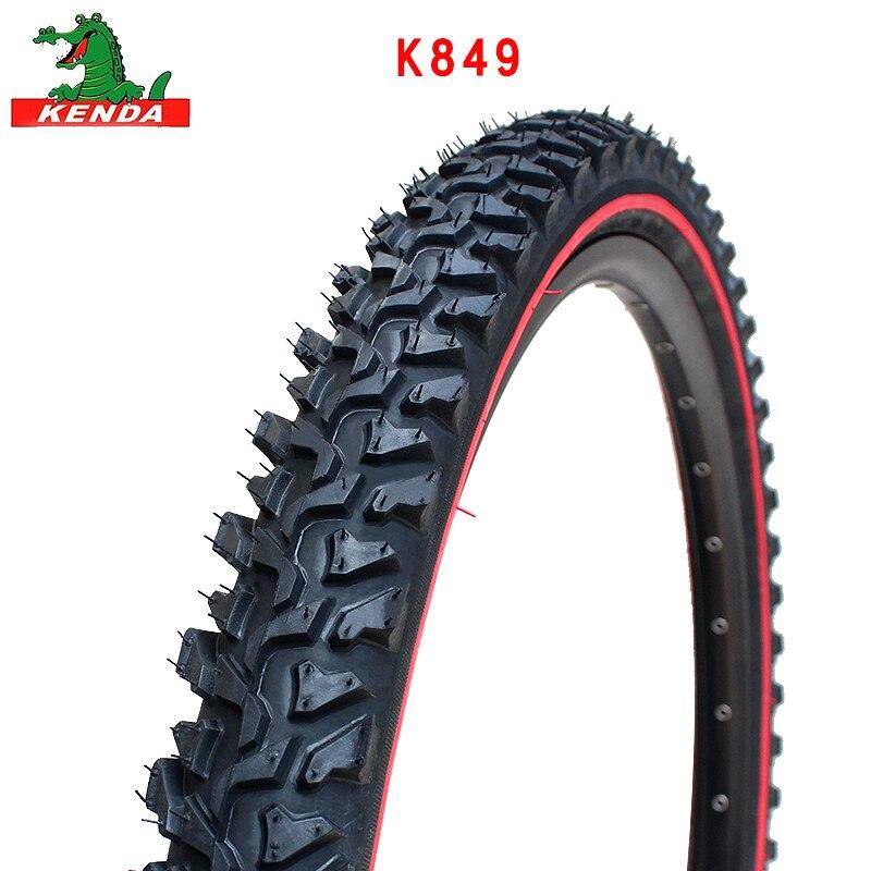 Kenda mountain bike pneu k849 fio de aço 24 26 polegadas 24*1.95 26*1.95 2.1 preto pneu linha vermelha cross-country pneus de bicicleta peças