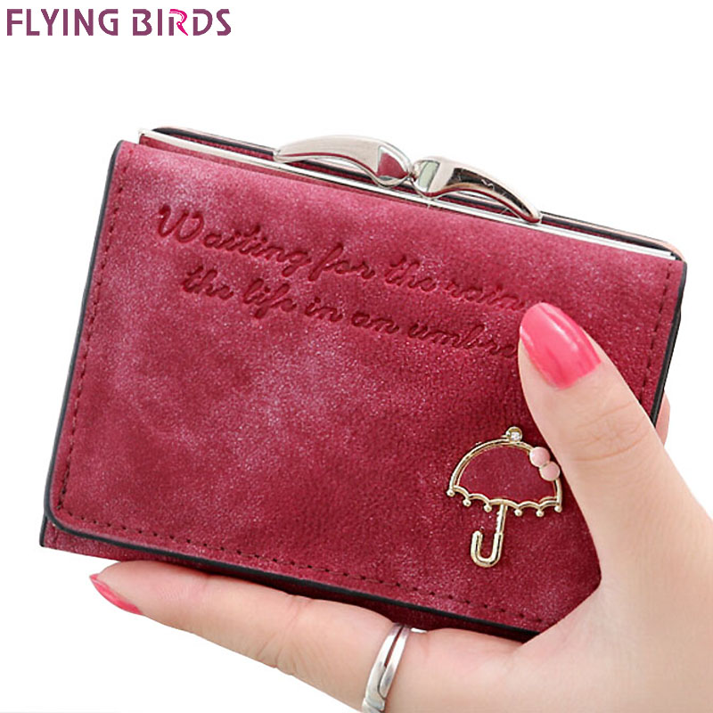 Flying birds! Women Wallets short dollar price Leather Wallet Clutch leather purse women bags high quality credit card LM3217fb flying birds 2016 wallet leather purse dollar price men bags wallets card holder coin purses short wallet men s bag lm3421fb