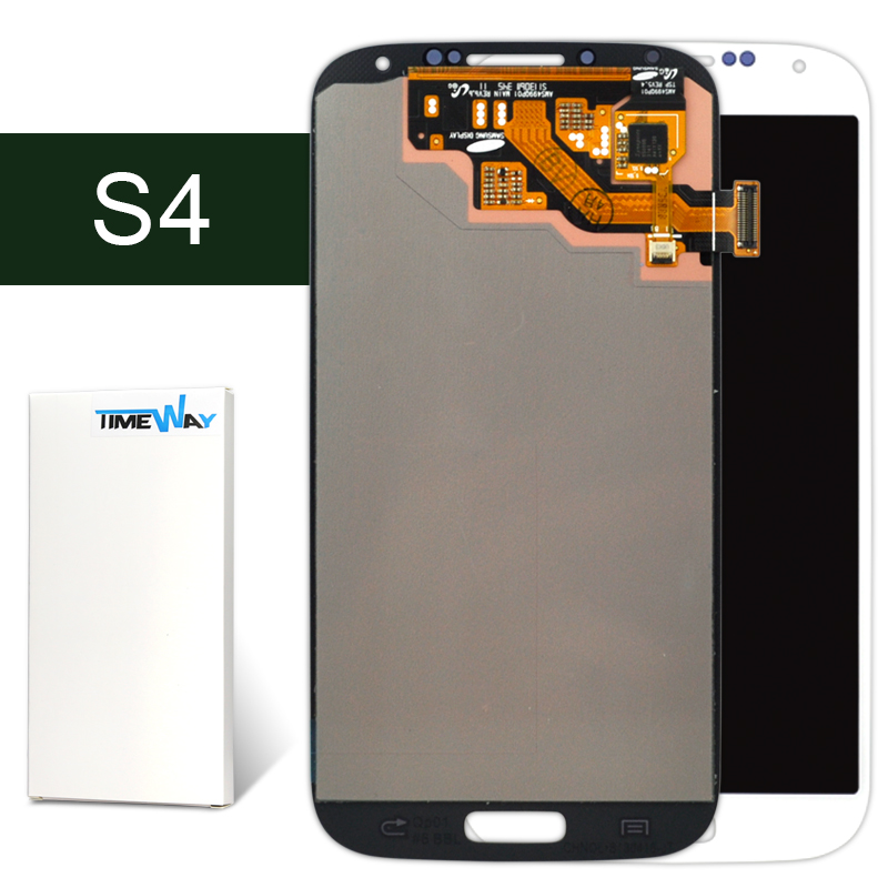 ФОТО 2pcs alibaba china For Samsung S4 i9505 i9500 LCD with Touch Screen Digitizer Blue Or White color 100% Guarantee--Timway