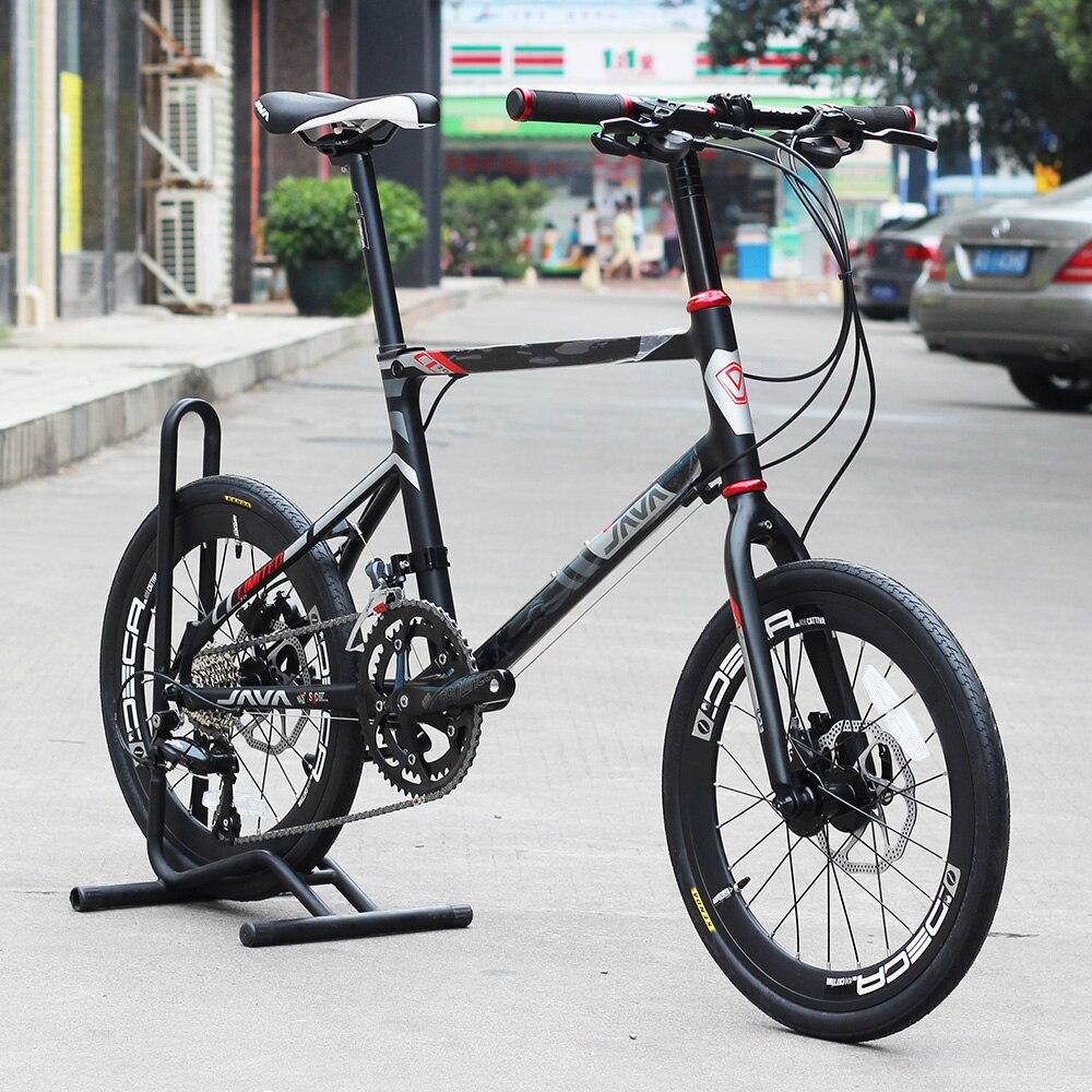JAVA LIMIITED CL Vélo 20 Minivelo 18 Vitesse frein à disque Uniex qualité supérieure Urbain 406 Mini velo Vélo Hydraulique Freins