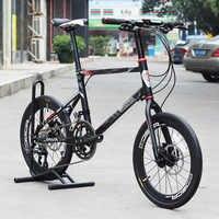 "JAVA LIMIITED CL Bike 20"" Minivelo 18 Speed Disc Brake Uniex High Quality Urban 406 Mini velo Bicycle Hydraulic Brakes"