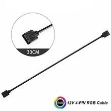 12 V/4pin 5 V/3 pin AURA RGB uzatma adaptörü kablosu, anakart 2 veya 3 veya 4 RGB Konnektörleri Splitter Hub PC için LED ışık şeridi