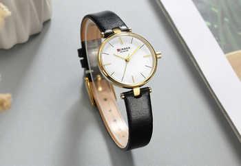 New Fashion CURREN Brand Simple Leather Strap Gold Watches Women Clock Ladies Casual Dress Quartz Wristwatch Reloj Mujer Gift